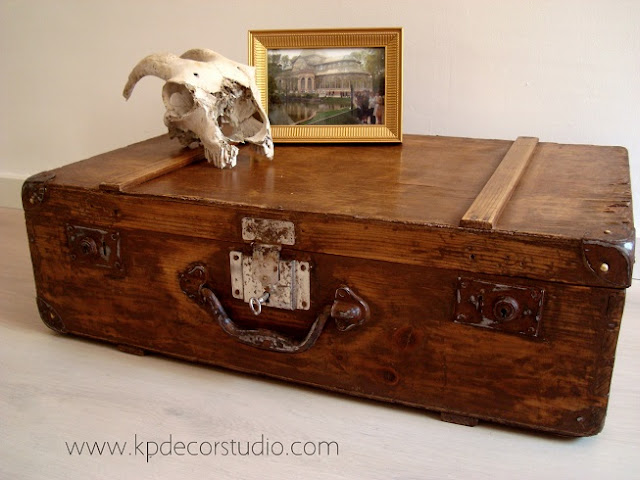 Kp tienda vintage online maleta antigua de madera ref for Maletas antiguas online