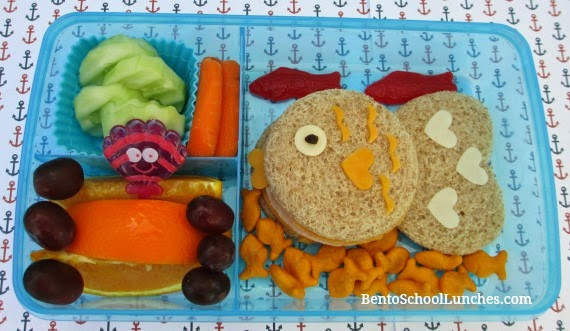 Fish bento school lunch, Fit & Fresh