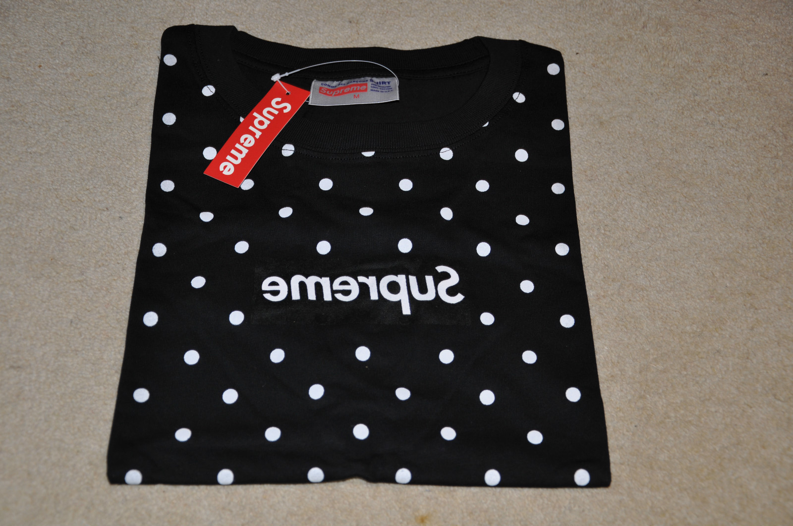Fake Supreme X Comme Des Garcons Box Logo Shirt