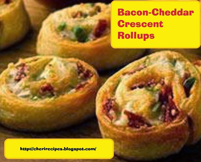 CHERYL's Twist on Cooking!!: Bacon-Cheddar Crescent Rollups