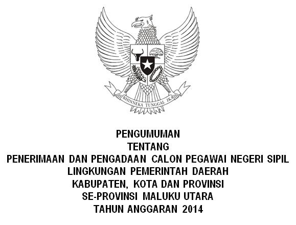 Lowongan Kerja CPNS Provinsi Malut