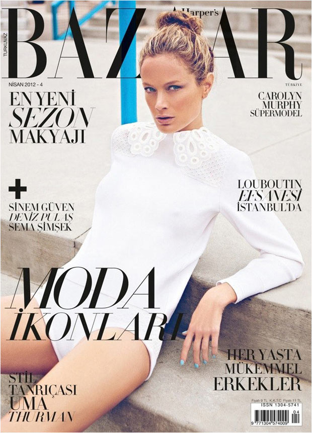 Harper's Bazaar Turkey April 2012: Carolyn Murphy by Koray Birand