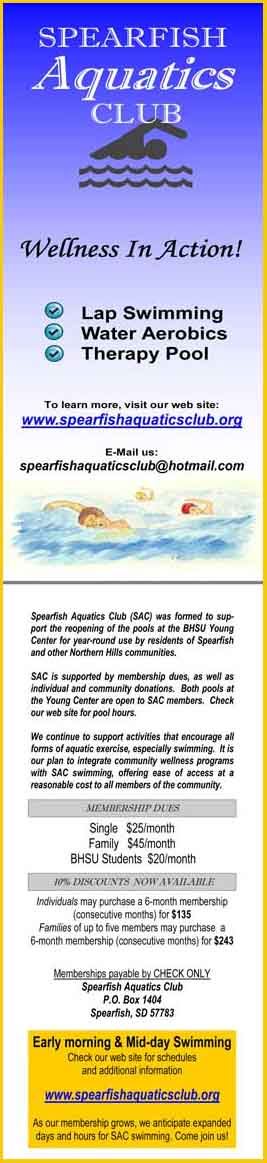SAC Information Cards shown below are available at the DYC front desk