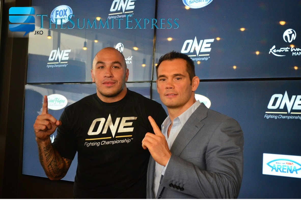 ONE FC's newest superstar, Fil-Am Brandon Vera and ONE FC VP of Operations, Rich Franklin
