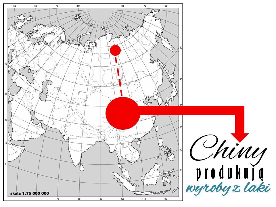 Historia decouapge'u - przedmioty z laki w Chinach