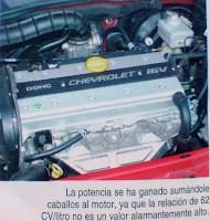 foto detalle motor 16v chevrolet Astra Vectra CD