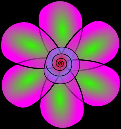 murrina flor diseñada con inkscape