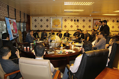 Saudi businessmen meeting