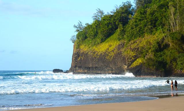 Kalihiwai Bay, Kauai, Hawaï, USA