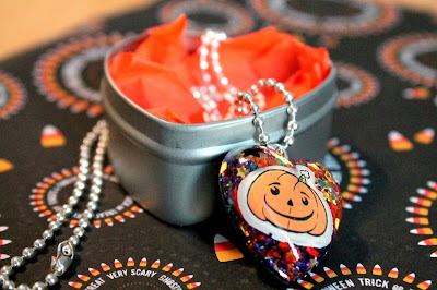Pumpkin Resin Necklace by I Sew Cute