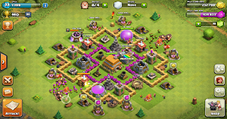 war trophy base TH level 6 - coc