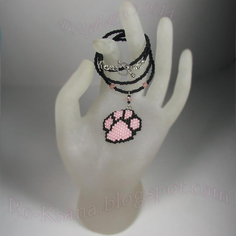 Peyote Beaded jewelry Gift for girl Плетение в мозаичной технике из бисера Розовый для блондинки