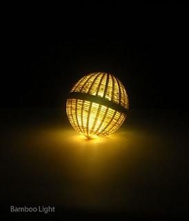 Lampara de Bambú, Accesorios de Iluminacion Sostenibles