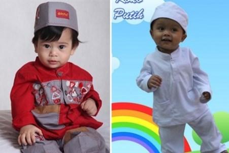 Baju muslim anak laki-laki usia 1-3 tahun