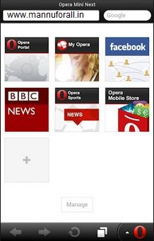 Opera Mini 7 Final Version for Android, Java, Symbian