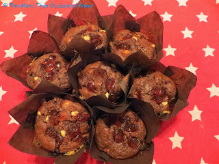 ... than occasional baker: Double chocolate, hazelnut and cherry muffins