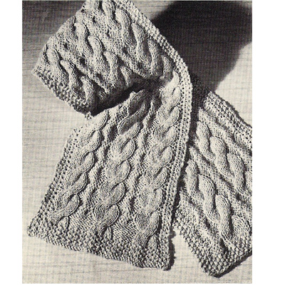 Cable Scarf Knitting Pattern : Vintage Knit Crochet Shop Talk: Jiffy Knit Patterns, Book 158