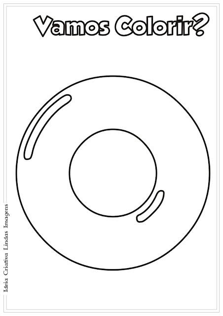 Alfabeto para colorir - Vogal O
