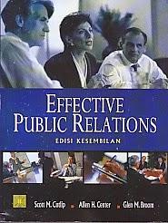 toko buku rahma: buku EFFECTIVE PUBLIC RELATIONS,pengarang scott m. cutlip, penerbit kencana