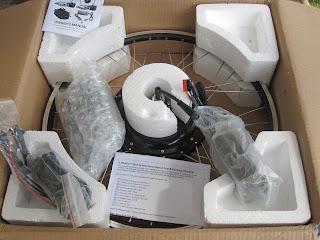 E-BikeKit 500W Direct Drive Rear Wheel in the box