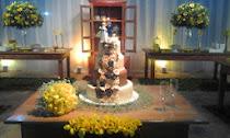 Casamento Rústico amarelo com laranja