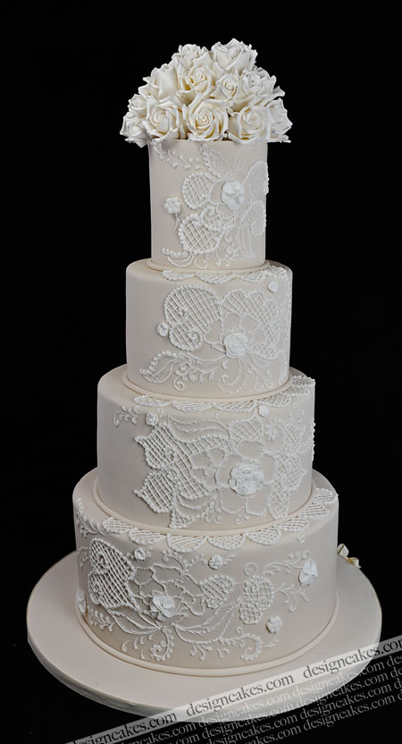 Lace Design Wedding Cake : Design Cakes: November 2011
