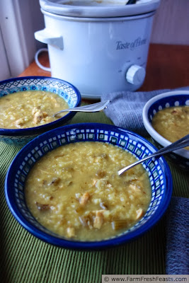 Easy Celery Rice Soup (with Slow Cooker option) | Farm Fresh Feasts