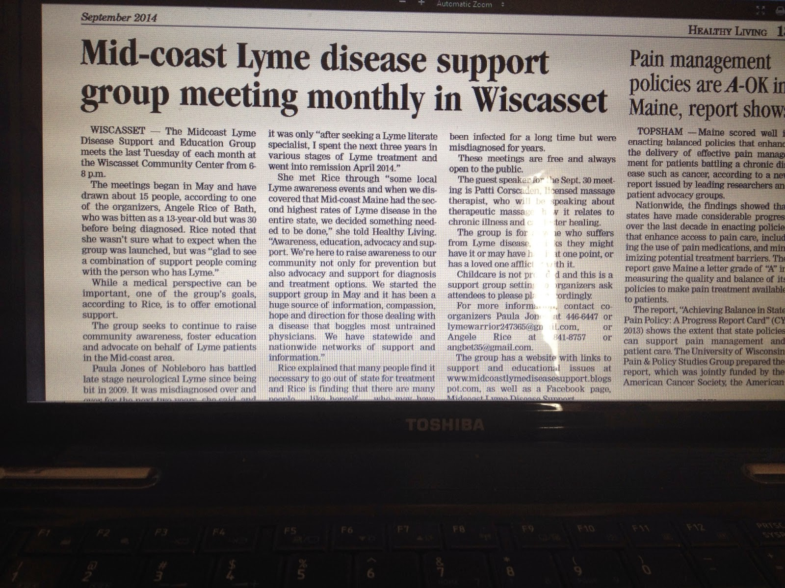 lymes disease essay He has authored a number of papers and three textbook chapters on lyme disease and has provided expert testimony before state legislatures and before congress pat smith, president, national lyme disease association (lda).