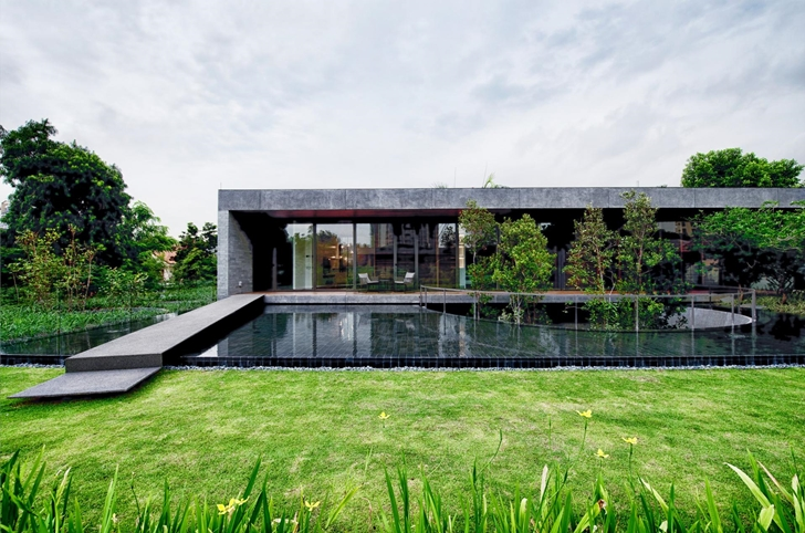 World of architecture modern villa design with chinese for Modern house garden