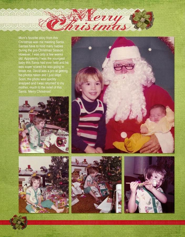 Vintage Baby First Christmas Scrapbook