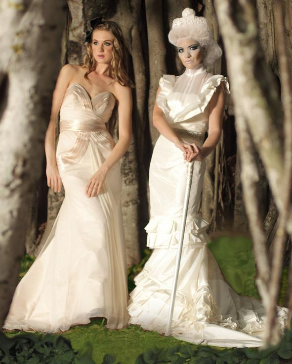Skin tone wedding dress colors