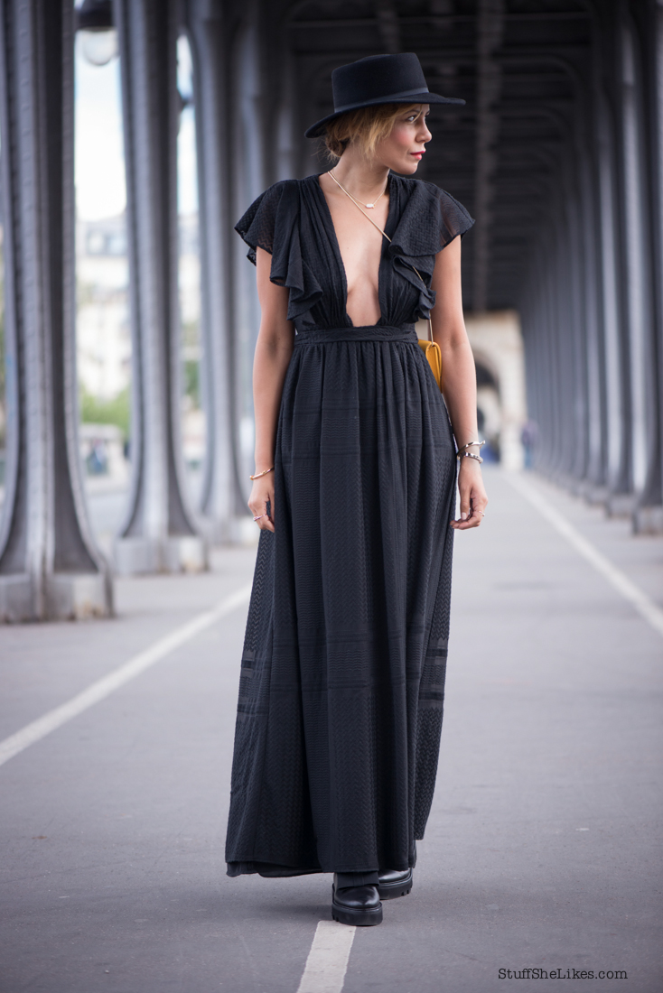 paris, jetset diaries dress, trip to Paris, black maxi dress, ruffles, forever 21 hat, fashion blogger, top fashion blogger, Los Angeles fashion blogger, best fashion blogger