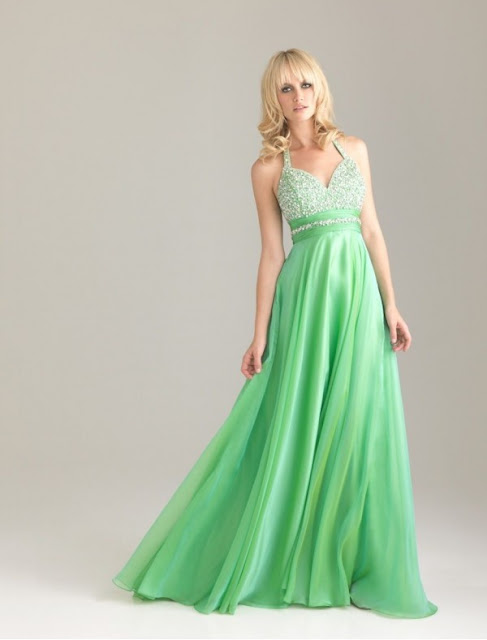 Chiffon Sweetheart Neckline Column Prom Dress with Lavish Beading Bodice