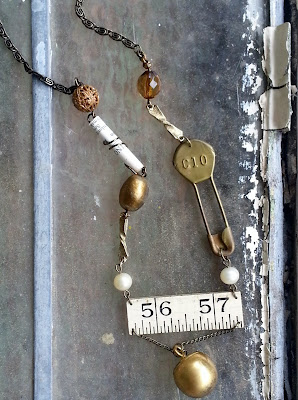 Upcycled assemblage necklace