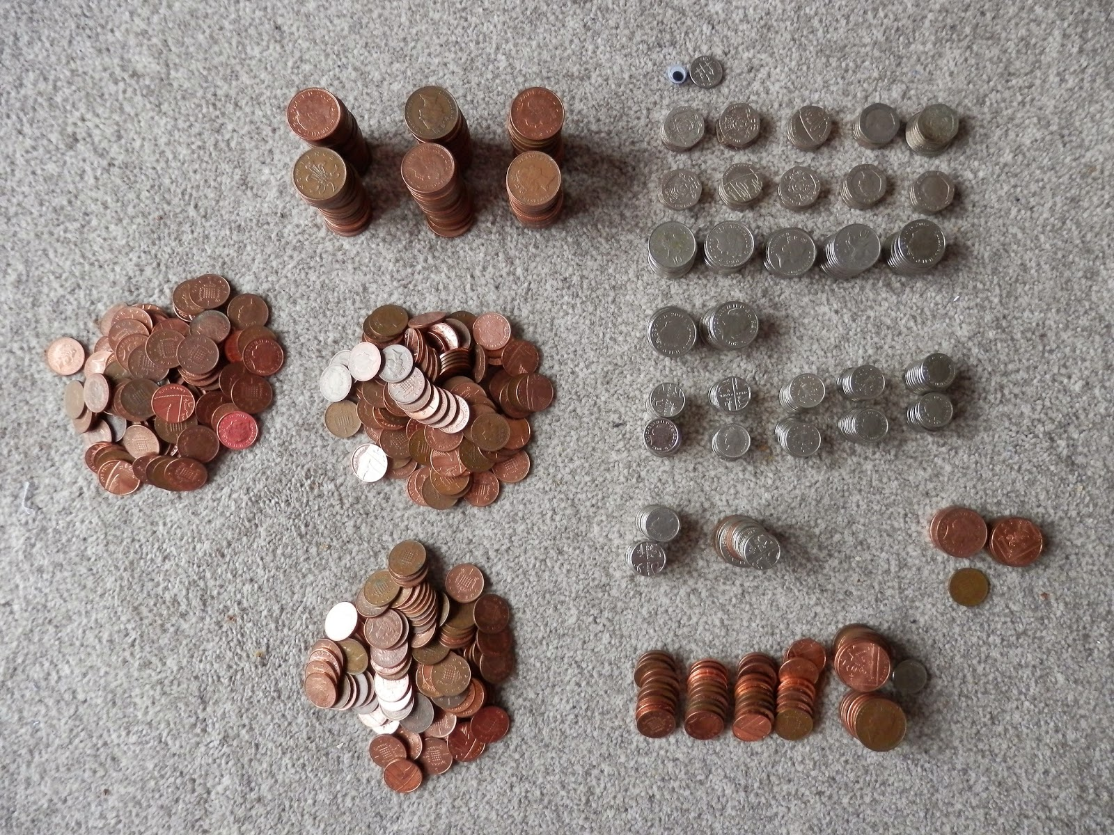 My Frugal, Penny Jar Savings Challenge.  Update. Can I save enough money to pay for my Christmas Supermarket Shopping?  Second Hand Susie Blog.