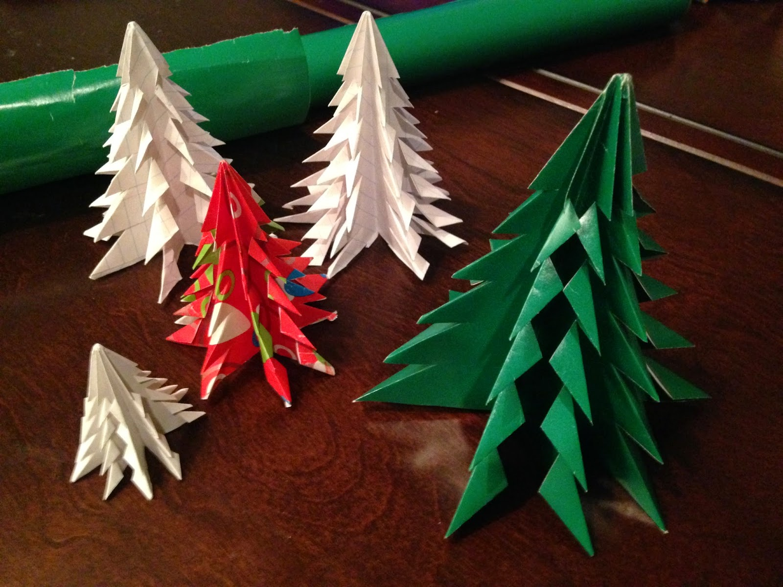 How To Make Christmas Tree Ornaments Out Of Construction Paper : Frugal allergy mom diy paper christmas tree ornament