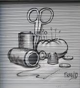 Nuevos graffitis Granadinos, Persianas pintadas.Imágenes de MA . merceriasanchez