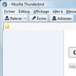 capture d'écran de Thunderbird