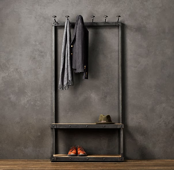 Restoration Hardware Coat Rack Bench