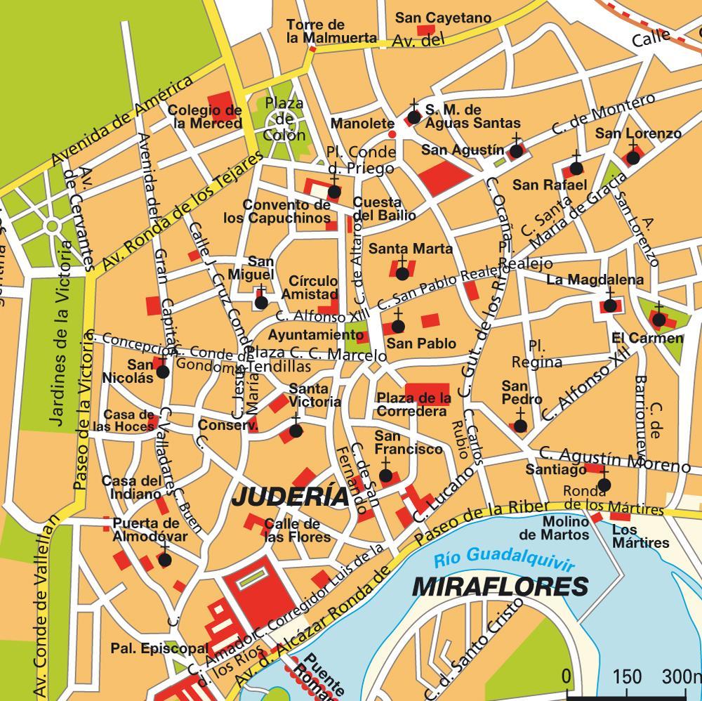 Map Of Cordoba City Centre
