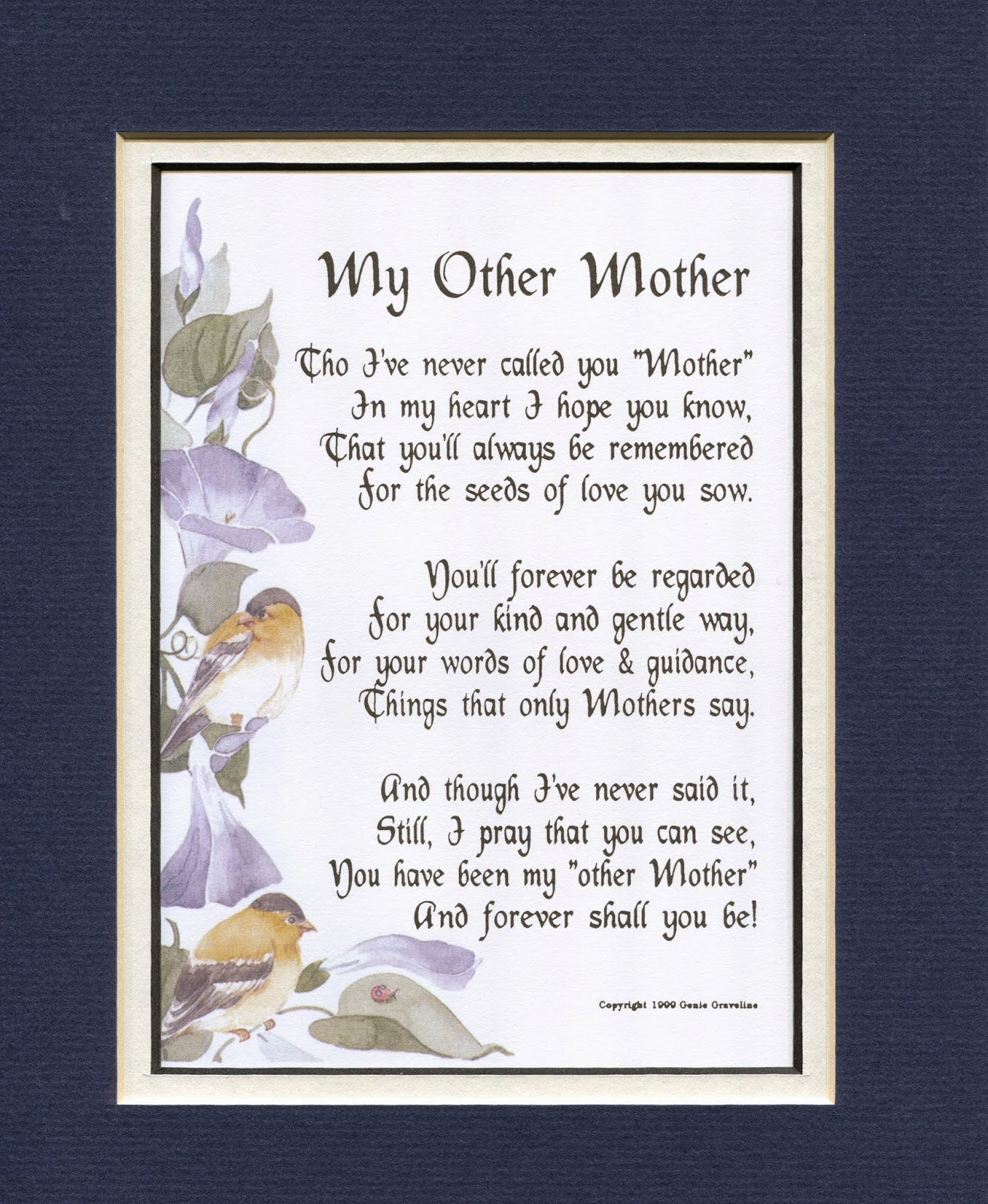 Genie's Poems: My Other Mother