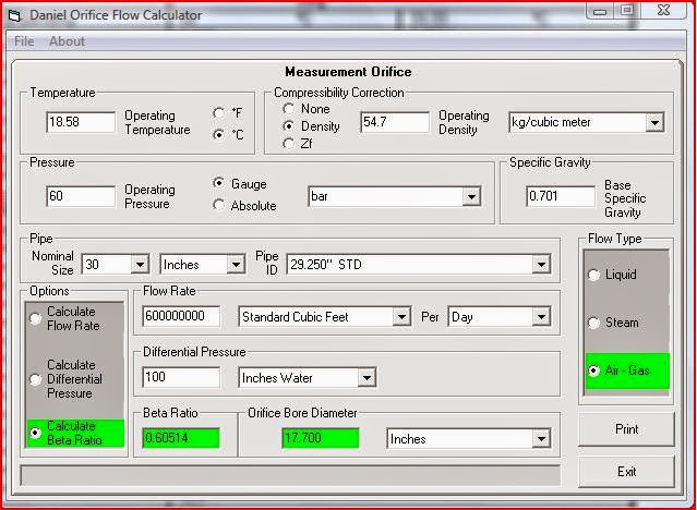 How to size an orifice plate flow meter with software