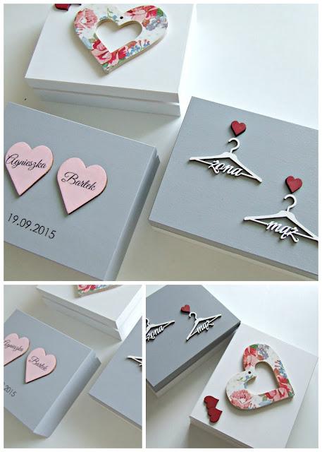pudełka ślubne na obrączki - ręcznie ozdabiane ślubne dekoracje Eco Manufaktura