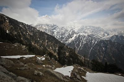 The snow-capped Dhauladhar range, Trek to Triund in Dharamsala