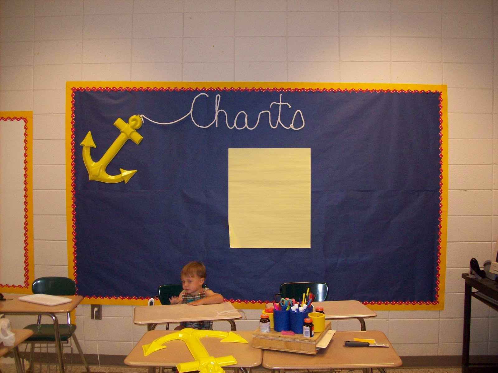 Anchor Classroom Decor ~ Setting sail in th grade anchor chart quot bulletin board