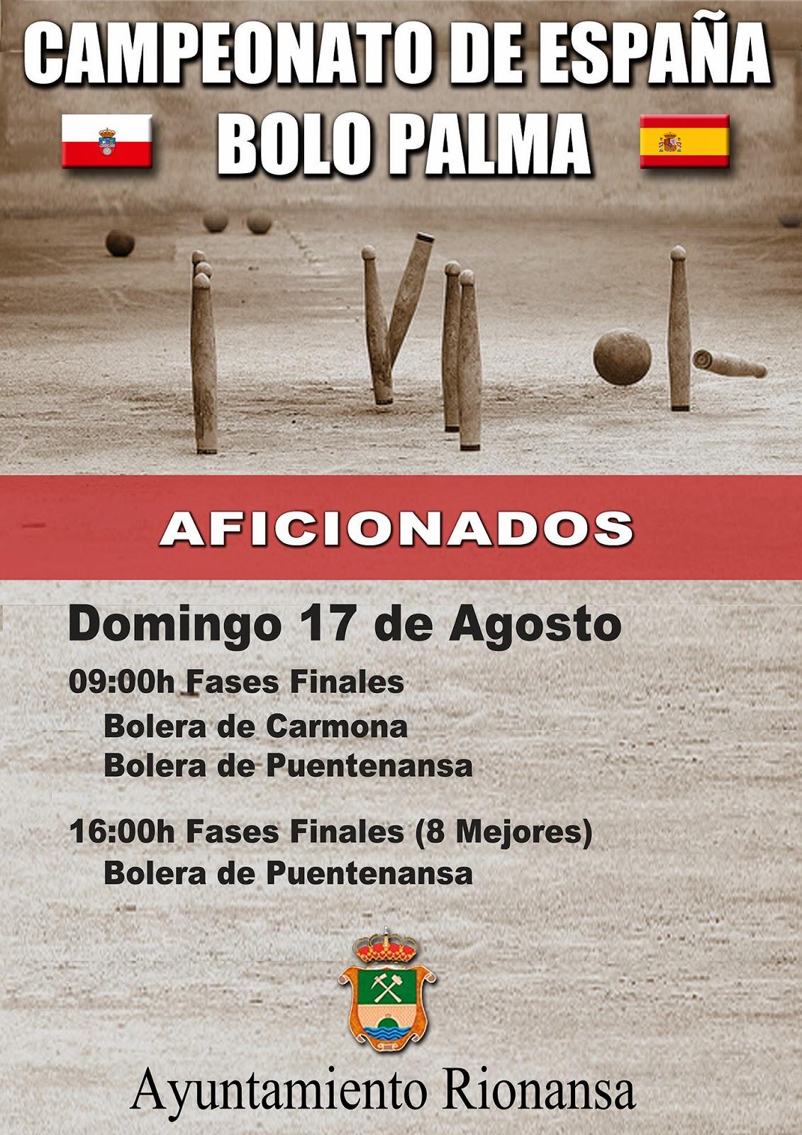 Campeonato España Bolo Palma Aficionados Poster Puentenansa Carmona Bolos