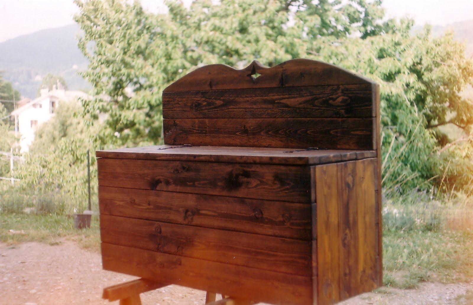 I miei sogni di legno cassapanca for Cassapanca portalegna