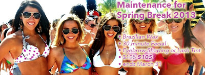 Tallahassee Brazilian wax, 30 minute facial, and a eyebrow shaping or lash tint for $105