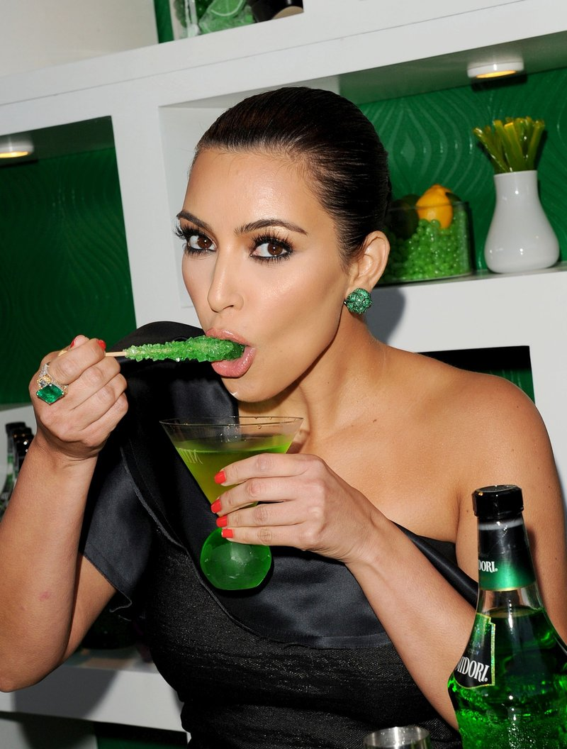 Kim Kardashian at Midori Melon Liqueur Trunk Show in West Hollywood
