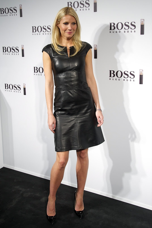 Gwyneth Paltrow in a leather dress